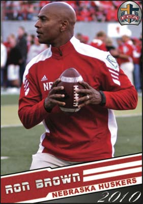 Nebraska Cornhusker Football Coach Ron Brown
